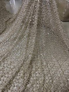 Fabric Type:Voile Cotton Feature:Eco-Friendly Feature:Water Soluble Product Type:Lace Technics:Embroidered Decoration:Sequins Price is for 5 Yards Beaded Lace Fabric, Fabric Beads, Tulle Fabric, Tulle Lace, Glitter Glue, Glitter Fabric, Wedding Fabric, Pearl Beads, Ball Gowns