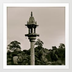 A kind of Minaret in India Art Print by over7seas - $17.68