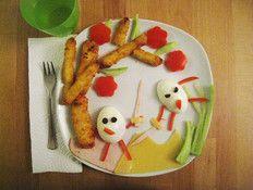 Battle of eggs: schnitzel corn, red pepper, cucumber, hard boiled egg, ham and cheese  Photo: Screenshot
