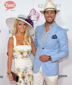 luke bryan and his wife | Luke Bryan and his wife Caroline celebrate the 139th Kentucky Derby on ...