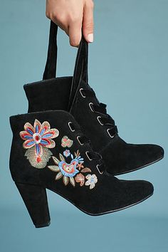 Anthropologie   Chelsea Crew Frida Embroidered Boots