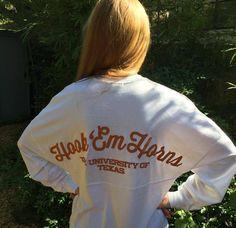Longhorn Fashions - Hook 'Em Horns Spirit Jersey, $39.00 (http://www.longhornfashions.com/hook-em-horns-spirit-jersey/)