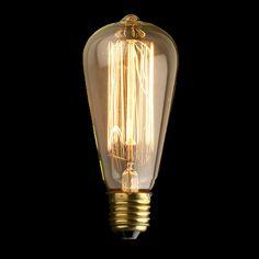 Ampoule design vintage à filaments style Edison Ampoule Design, Lamp Light, Light Bulb, Thomas Edison, Edison Lampe, G9 Led Bulb, Vintage Industrial Lighting, Edison Lighting, Lamp Socket