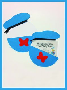 Donald Duck pocket custom Birthday Party Invitations - 10pcs