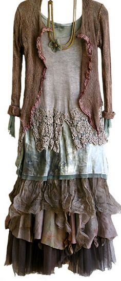 Boho lace layering in Magnolia Pearl style