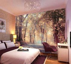 43 Ideas Photo Wallpaper Bedroom Wall Murals For 2019 Wall Murals Bedroom, Wall Mural Decals, Bedroom Wall Colors, Fall Bedroom Decor, Cozy Bedroom, Bedroom Ideas, Master Bedroom, 3d Wallpaper For Walls, Photo Wallpaper
