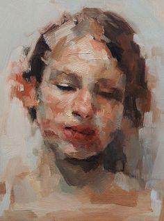 """""""The Fragile"""" - Kai Samuels-Davis, oil painting gicleé print {female head #impressionist art texture woman face portrait texture painting #loveart}"""