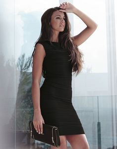 Image 1 of Michelle Keegan Loves Lipsy Ripple Bodycon Dress