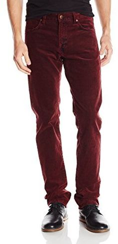 Agave Men's Gringo Classic Fit Straight Leg Corduroy Pant In Burgundy