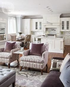 White decor is classic and timeless. Some people love an all white interior while others may use that all white backdrop as the canvas on which to throw some color and prints. Jennifer Reid (of Barlow Reid Design) High Fashion Home