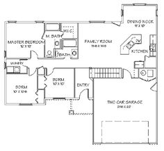 First Floor Plan of Traditional   House Plan 72405