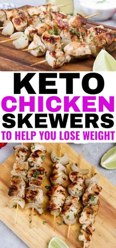 Chicken Skewers to help you lose weight on the keto diet. These low carb chicken skewers are easy to make, healthy and delicious and you need only a few ingredients for an amazing keto summer recipe! Best Low Carb Recipes, Healthy Summer Recipes, Low Carb Dinner Recipes, Breakfast Recipes, Dessert Recipes, Low Carb Breakfast, Ketogenic Recipes, Diet Recipes, Vegetarian Recipes