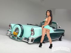 1956 Chevy Bel Air Convertible Model Elizabeth Ruiz
