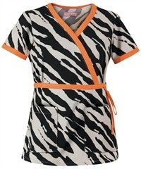 Koi Scrubs Wildside Black Print Top.  Have fun this Fall with Koi's amazing new prints!  These are selling fast, so get yours now, at Scrubs & More, The Uniform Store.