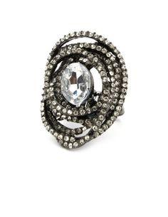 CHARLOTTE RUSSE: Sparkle Galaxy Ring [Hematite] $6.50