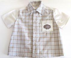 Camisa niño 100% algodón - Bordado huichol hecho a mano