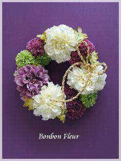 和風リース (ウェルカムリース) : Bonbon Fleur ~ Jours heureux