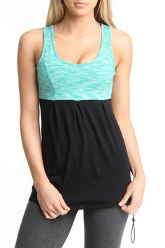 Keshia Tank in Green And Black
