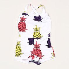 Mini Rodini Organic Pineapple Summersuit