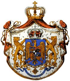 Coat of Arms of the Kingdom of Romania. Greatest Romanians Of All Time Tartan, Imperial Eagle, Crown Jewels, Roman Empire, Coat Of Arms, Eagles, Lions, Tatoos, All About Time