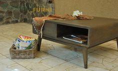 Retro #furniture #JFLcali, Calista Black Rustic Coffee Table.