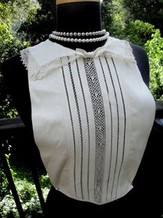 1940's Antique Crochet Tatted Venice Ivory Lace by AnnasDream