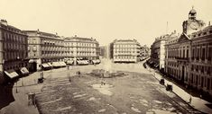 Puerta del Sol hacia 1870. Detalle de una fotografía de Juan Laurent realizada después de su primera gran reforma.