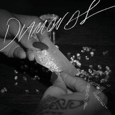 """Rihanna teams up with label mate and la familia, Kanye West for the official remix of her hit single """"Diamonds"""" from her upcoming Unapologetic album. Rihanna Song, Beyonce, Rihanna Photos, Rihanna Video, Rihanna Riri, Diamonds In The Sky, Buy Diamonds, Tangled, Books"""