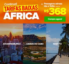 AINDA TEMOS: ✈ África a partir R$ 368 IDA e VOLTA! :: Jacytan Melo Passagens