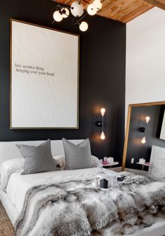 Room Crush: your bedroom...the art the colours & textures, the wall lights ...big mirrors LOVE!!!