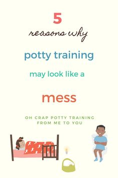 When it feels like potty training your toddler is turning into a mess of accidents or rising resistance, what could be the reason? In this post, I share 5 common reasons why potty training can go wrong. #ohcrappottytraining #pottytraining #pottytrainingtips #toddlermom