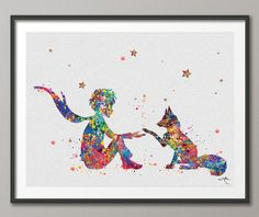 The Little Prince 4 Le Petit Prince with Fox by CocoMilla on Etsy
