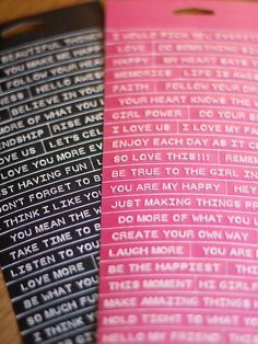 Win What You Pin: CHA 2014 Reveal. Loving the black tiny text. Ok, I love ALL the tiny text... but pink? not so much. #cosmocricket #CHAW2014