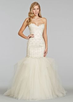 Bridal Gowns, Wedding Dresses by Jim Hjelm - Style jh8407 I have a thing for a two in one dress