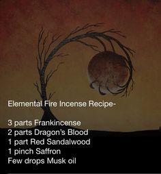 Elemental Fire Incense Recipe
