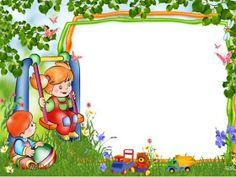 PARA IMPRIMIR: Bordes infantiles verdes