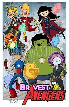 Bravest Avengers (Bravest Warriors & The Avengers Mash Up) 11 x 17 Print