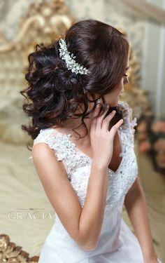 Bridal Hairstyles Inspiration : Bridal hair comb by TopGracia