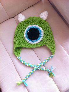 twenty somethin' mom: crochet mike wazowski earflap hat pattern