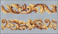Cross Stitch Borders, Cross Stitch Flowers, Cross Stitching, Cross Stitch Embroidery, Hand Embroidery, Cross Stitch Patterns, Needlepoint Patterns, Embroidery Patterns, Bead Loom Patterns