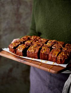 Bake Off finalist Chetna Makan shares her recipe for a nutty chocolate traybake made with salted caramel. This easy to follow recipe is ready in 45 minutes.