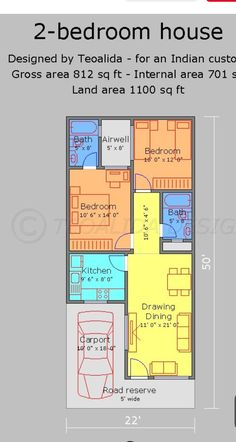 2bhk House Plan, Model House Plan, Simple House Plans, Duplex House Plans, Family House Plans, Dream House Plans, Small House Layout, House Layout Plans, Civil Drawing