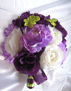 Free Shipping Wedding Bouquet Bridal Silk by Rosesanddreams, $209.99