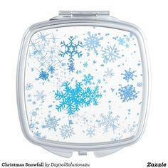 Christmas Snowfall Vanity Mirror