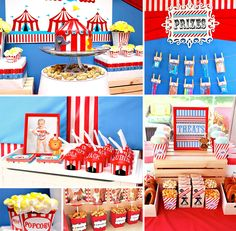 Come one, come all! Juli Smigelsky of Tabletop Treats designed this Creative & FUN Big Top Circus Party in the backyard for her adorable birthday boy Jack! #Circus #Carnival http://hwtm.me/11H1x1W