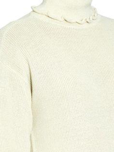 Trademark Ruffle alpaca and silk-blend roll-neck sweater