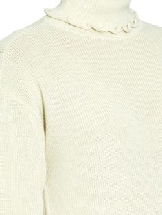 Trademark Ruffle alpaca and silk-blend roll-neck sweater