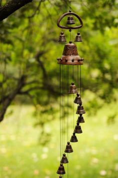 Ceramic wind chime by BrightClay on ezebee.com