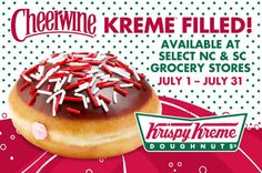NC companies join forces to make a special Krispy Kreme Cheerwine doughnut. It's a match made in the Carolinas.