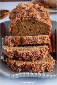 Ciasto bananowe z cynamonem #banana Cookie Recipes, Snack Recipes, Dessert Recipes, Snacks, Desserts, Sweets Cake, Sweet Bread, Food Inspiration, Banana Bread